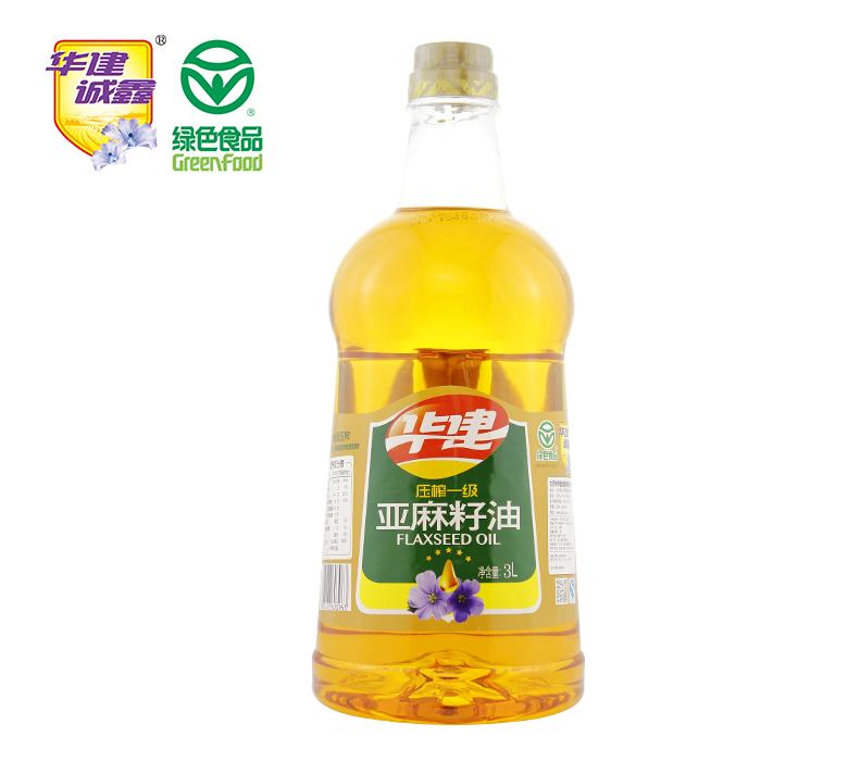 压榨一级亚麻籽油3L