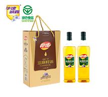 压榨一级亚麻籽油1L×2瓶(礼盒)