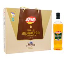 压榨一级亚麻籽油1L×4瓶(礼盒)